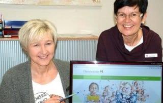 Ulrike Herget und Monika Ricke