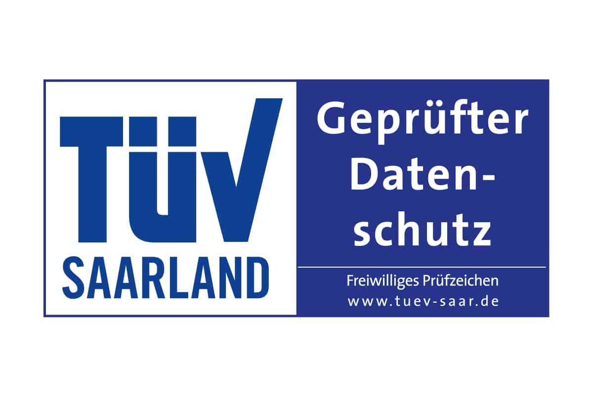 """TÜV-Zertifikat """"geprüfter Datenschutz"""""""