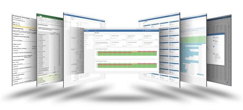 Screenshots Verwaltungsportal